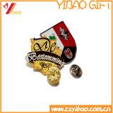 Soft enamel Pin, la imitación cloisonné prendedores, Insignia de esmalte de forma redonda, con relieves Soft enamel pasadores (YB-HR-391)