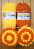 Ткань 12cm скруббера Scrubbies Susemi тарелки цветка попкорна вязания крючком руки