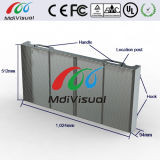 広告のための屋内および屋外の透過ガラスのLED表示