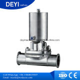 Válvula de diafragma manualmente operada inoxidável do aço Ss316L