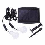 Solar Power Bulb Light 2W Bright Garden Yard Sensor de luz Outdoor Waterproof Solar Lamp with Ground Spike