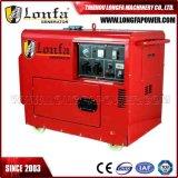 7kw de Geluiddichte Diesel Draagbare Generator van 7000 Watts (Elektrisch Begin)