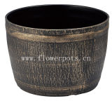 Plástico redondo barril Planter (KD7603S)
