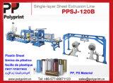 Plastikblatt-Strangpresßling-Zeile Blatt-Extruder für pp. und HÜFTEN materiell