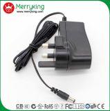 adaptador de la fuente de alimentación AC/DC del cargador del adaptador de la corriente ALTERNA de 6V 2A con el enchufe BRITÁNICO