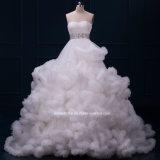 Платье венчания Dz510 Tulle кристаллический мантий шарика облака Bridal тучное