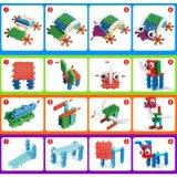 14885508-4 dans 1 Animal bloc modifié kit DIY Creative jouet éducatif Jeu de blocs 32pcs (Frog--- de l'éléphant d'Autruche Dog)