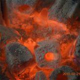 BBQ van het Bamboe van het Brandhout van Hongqiang de Briket van de Houtskool