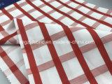 Baumwollgarn-gefärbter Satin-Check Fabric-Lz6961