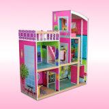 Casa de boneca 2017 de madeira por atacado nova, casa de boneca F0401 do jogo dos miúdos