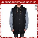 Casual Nenhum jaqueta de lã com capuz para homem Zipper (ELTHSJ-947)