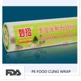 L'alimento molle a prova d'umidità trasparente di plastica aderisce pellicola