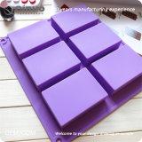 Le dégagement de la vente Rectangle savon artisanal moule à cake en silicone avec 23.2*21.5*2.5cm
