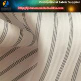 黒いライン、白い地面またはヘリンボンポリエステル人のスーツのライニングファブリック(S80.91)
