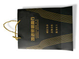 Impressão de saco de papel personalizado de alta qualidade com envernizamento, estampagem a quente