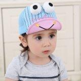 2017新しいデザイン漫画の赤ん坊の綿の帽子は帽子の子供の余暇によって編まれる帽子をからかう
