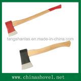 Axt-Befestigungsteil-Handwerkzeug-Kohlenstoffstahl-Axt mit hölzernem Griff