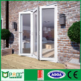 Doble acristalamiento de aluminio perfil de la puerta plegable con hecha por la fábrica