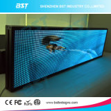 심상과 원본 전시 (P7.62mm)를 위한 실내 풀 컬러 LED 이동하는 표시