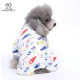 Ropa linda del animal doméstico de la camisa de los pijamas del perro del algodón de la venta de la fábrica