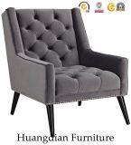 Poltrona Tufted personalizzata della presidenza del sofà del cuoio della mobilia del salone (HD524)