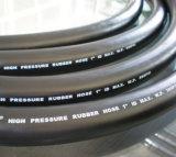 Boyau en caoutchouc noir d'industrie de surface lisse pour l'eau/air