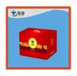 Boîte-cadeau gravée en relief par logo fait sur commande gris magnétique décoratif de couleur de boîte-cadeau de fermeture