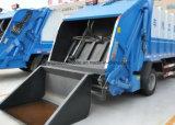 Dongfeng 4X2 6은 15 톤 쓰레기 압축 분쇄기 쓰레기 모은 및 수송 트럭 선회한다