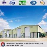 La moderna estructura de acero prefabricados con Brickwall Almacén