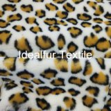 Leopard les cheveux de lapin d'imitation d'impression