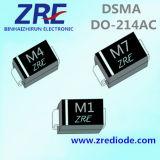 1A 1000V M1 /M7 /S1m SMD diodo rectificador de Propósito General ¿SMA-214AC Caso
