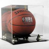 Cas d'exposition acrylique de basket-ball avec le dos de miroir