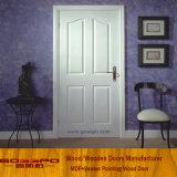 Porta branca de madeira MDF para sala de interiores (GSP8-036)