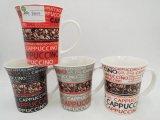 Tazze di ceramica su ordinazione promozionali con Design-10 scintillante oncia