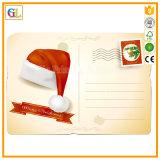 Kundenspezifische Weihnachtsdekorative faltende Papiergeschenk-Karten-Postkarte-Gruß-Karte
