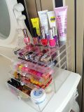 Boîte de présentation cosmétique acrylique souple avec 5 tiroirs