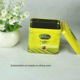 Rechteckiger Tee-Kasten/Kaffee-Metallzinn-Hersteller