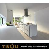 白い光沢の食器棚のシェーカーのキャビネットTivo-0087V