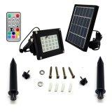 20 LEDs de luz solar paisagem de Controle Remoto RGBW piscina impermeável IP65 Luz de Jardim