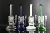 4 klauwen Perc 3 Waterpijpen van het Glas Showerhead van de Ring Gealigneerde met Vier Kleuren