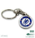 유일한 디자인 쇼핑 카트 트롤리 동전 Keychain 유로 크기