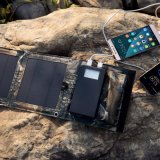 Foldable 5W太陽電池パネル外部電池4000mAh力バンクを持つ二重USBの充電器