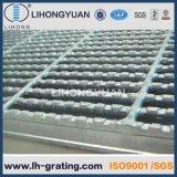 Barra de acero galvanizada que ralla para el suelo de la plataforma de la estructura de acero