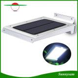 46 LED Outdoor Solar Wall Light Movido Ativado Iluminação de segurança Iluminação à prova de intempéries à prova de intempéries Lâmpada super brilhante para pátio, pátio, deck, varanda