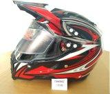 太字の盾のバイザー、Casco Motoの安全ヘルメットが付いているモトクロスの道十字のヘルメット