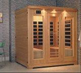 Sauna infrarossa di legno solido con il formato personalizzato (AT-0925)