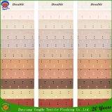 Home Textile tissé polyester étanche tissu flocage rideau d'indisponibilité