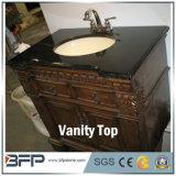 Parte superiore nera di vanità del granito della Cina, contro parte superiore per la stanza da bagno