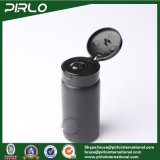Forma 100ml 3,3 oz Negro plástico redondo Biberón de talco en polvo seco con tapa superior de Filp