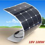 Plegamiento de Sunpower 100W y el panel solar flexible para el mercado de gama alta
